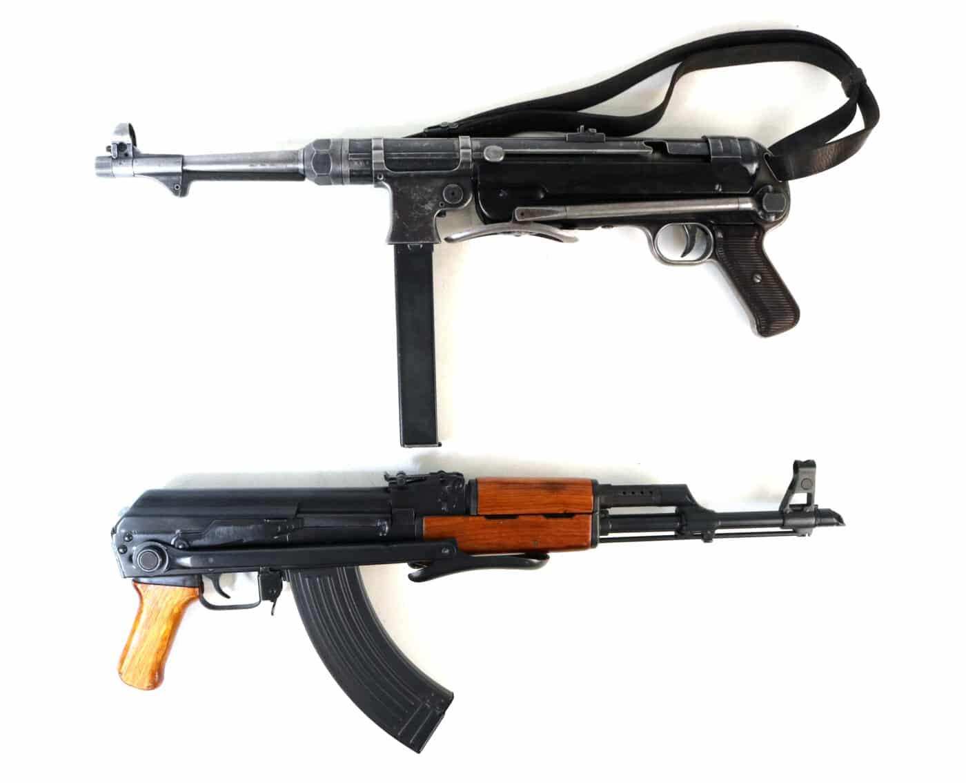 Comparison of MP40 and AK