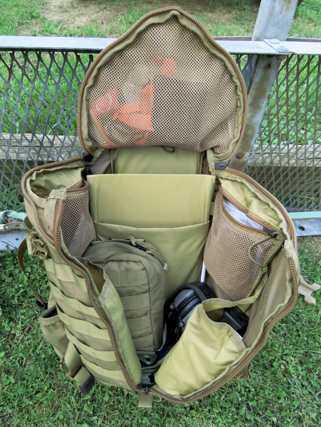 Compartments on a Mystery Ranch backpack