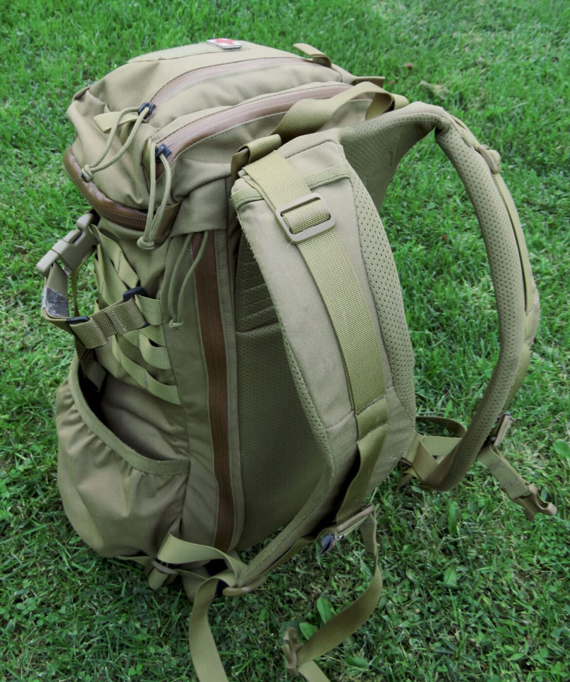 Shoulder straps and yoke on Mystery Ranch pack