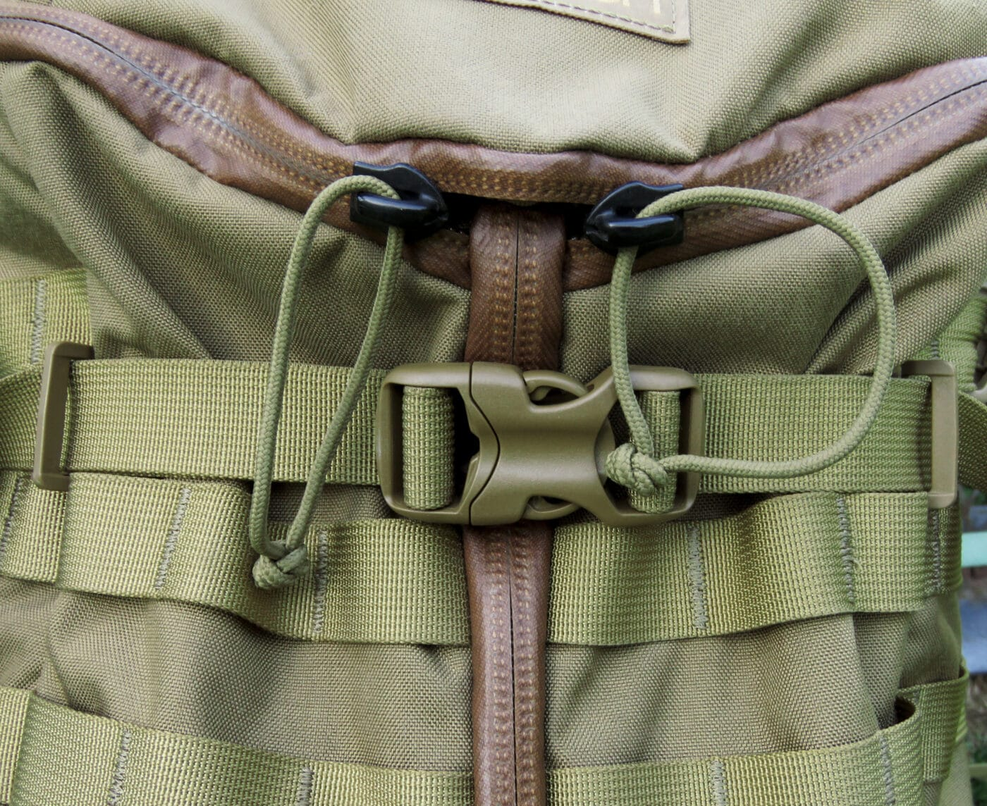 Sealed zippers and pulls on Mystery Ranch backpack
