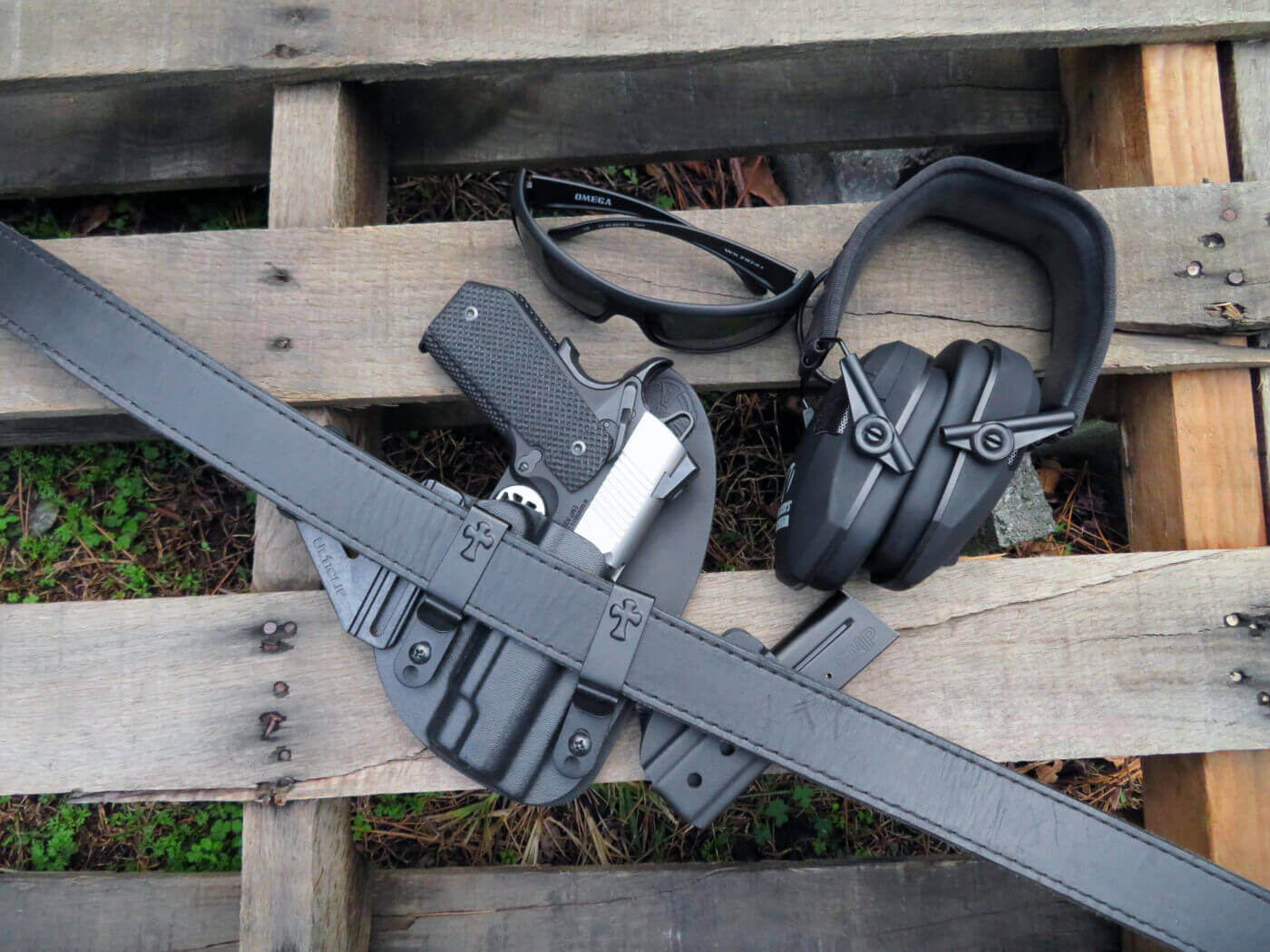 CrossBreed holster and belt with Springfield EMP pistol in belt