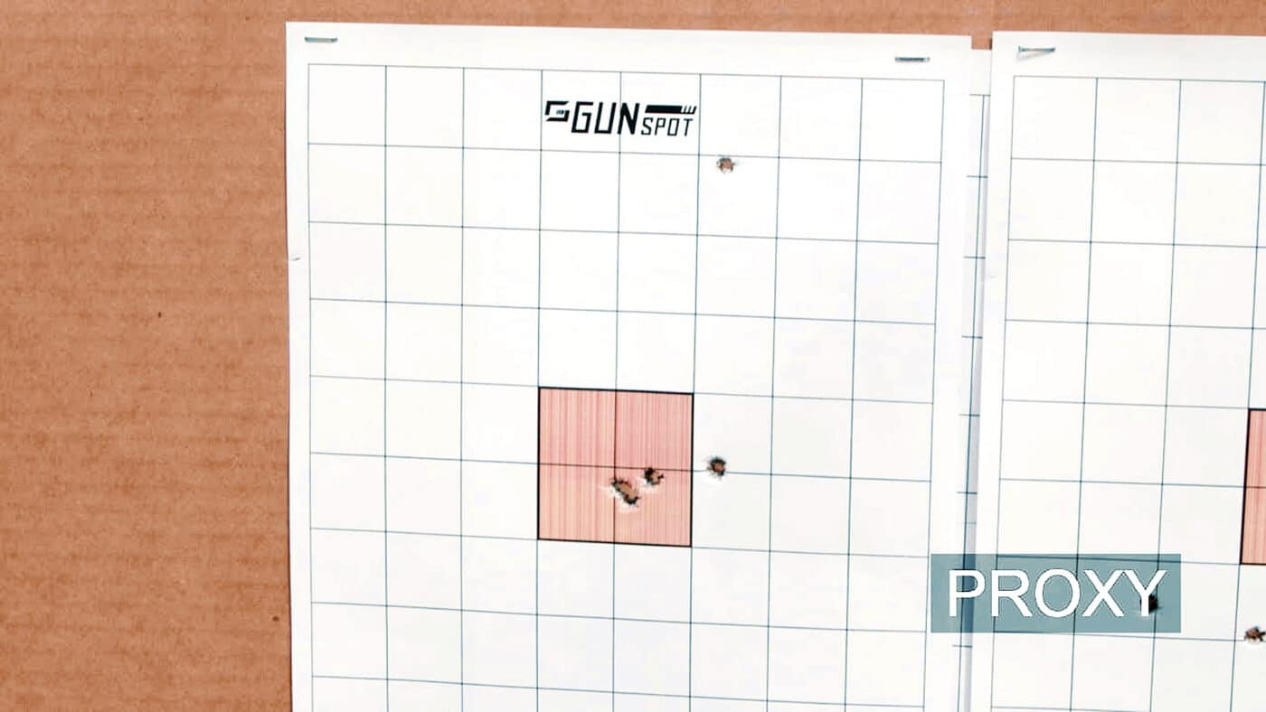 Target used to sight in a rifle