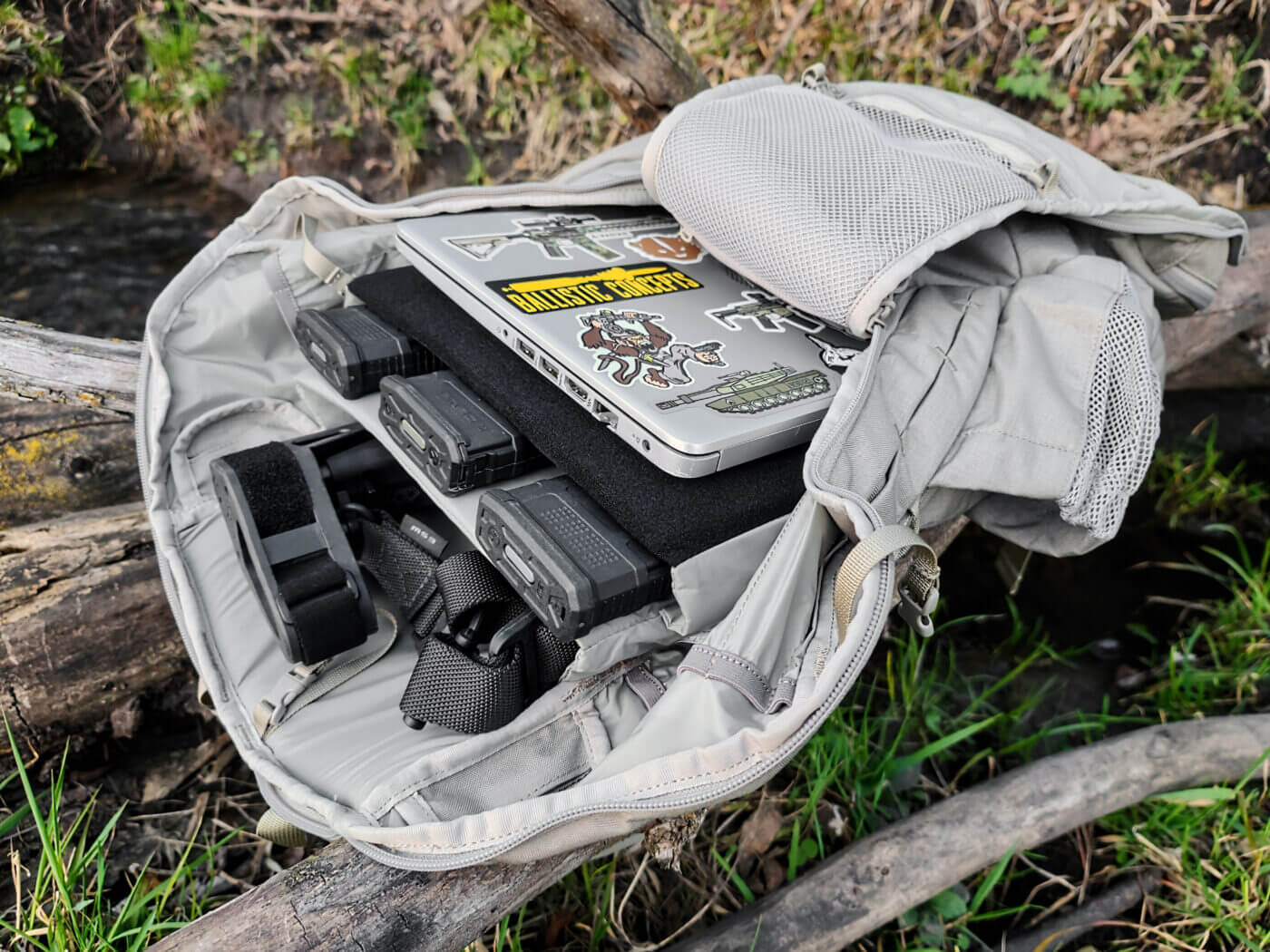 Main compartment of ALPS Ghost 30 backpack