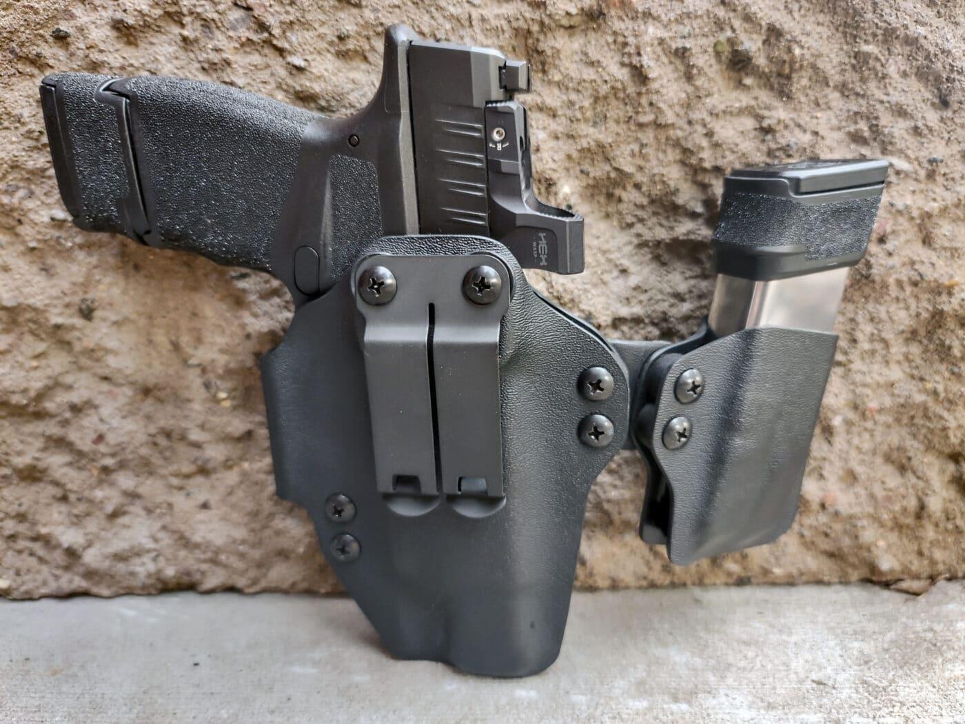 Hellcat pistol in BlackPoint AIWB holster for summer