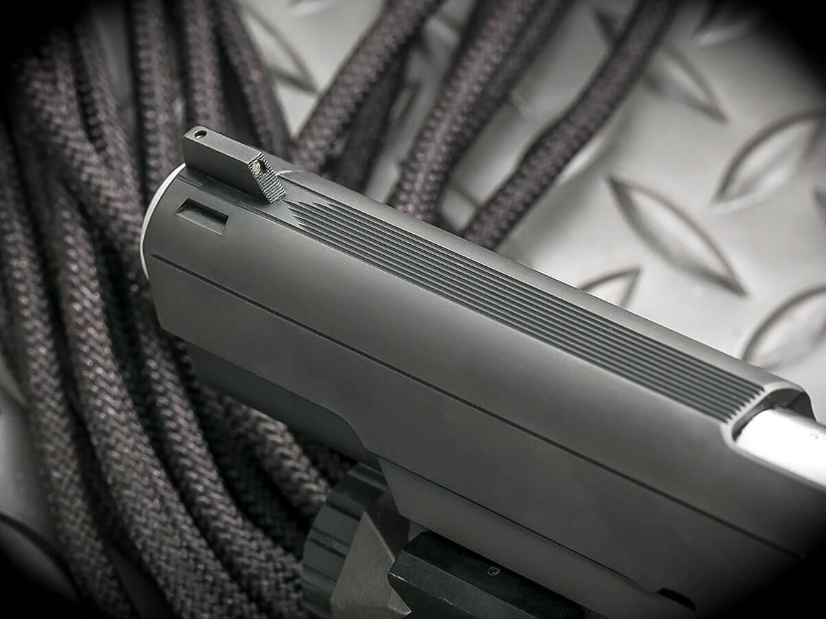 Heirloom Precision custom slide work on a 1911 pistol