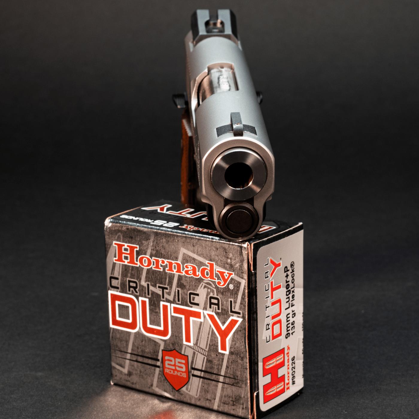 Hornady Critical Duty ammo with Springfield Ronin 1911