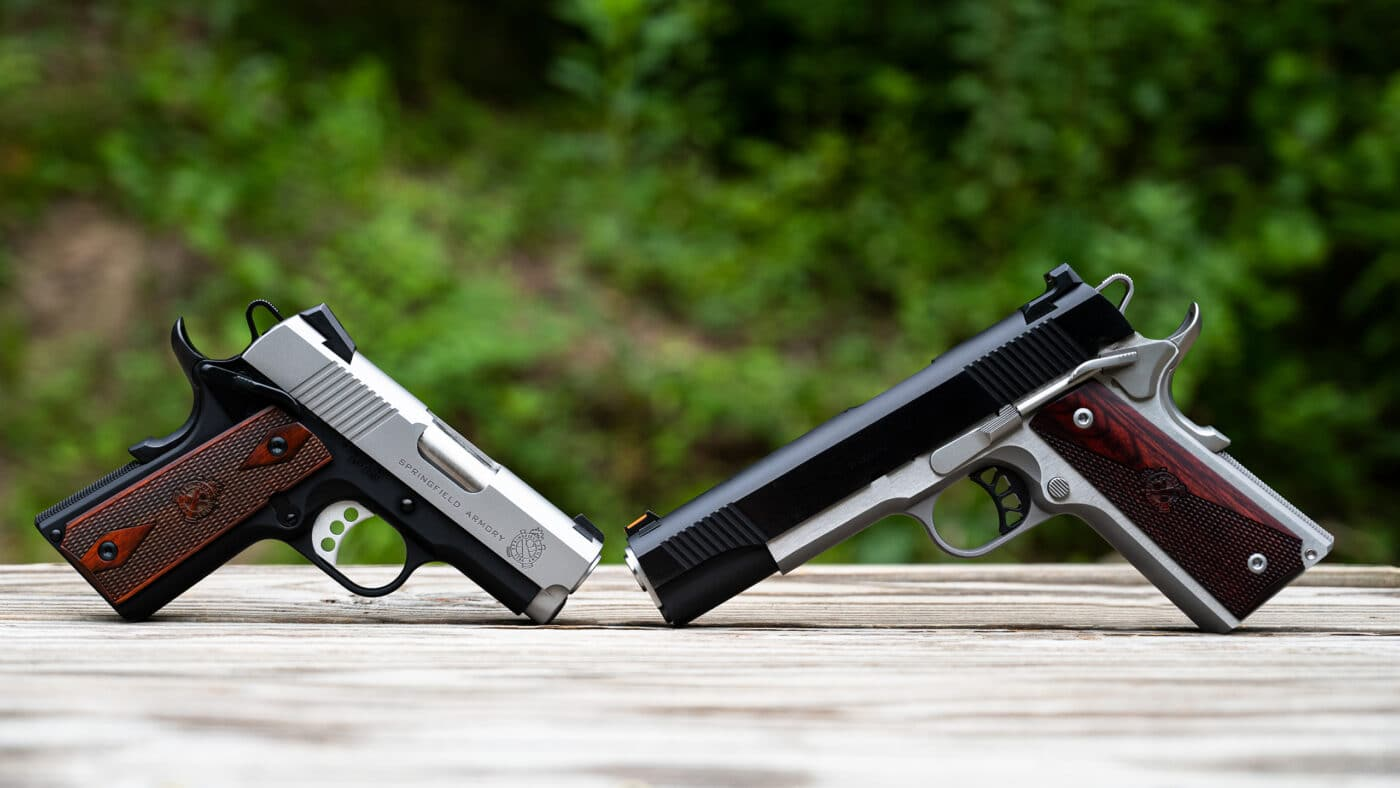 Profile comparison of EMP and Ronin pistols by Springfield Armory