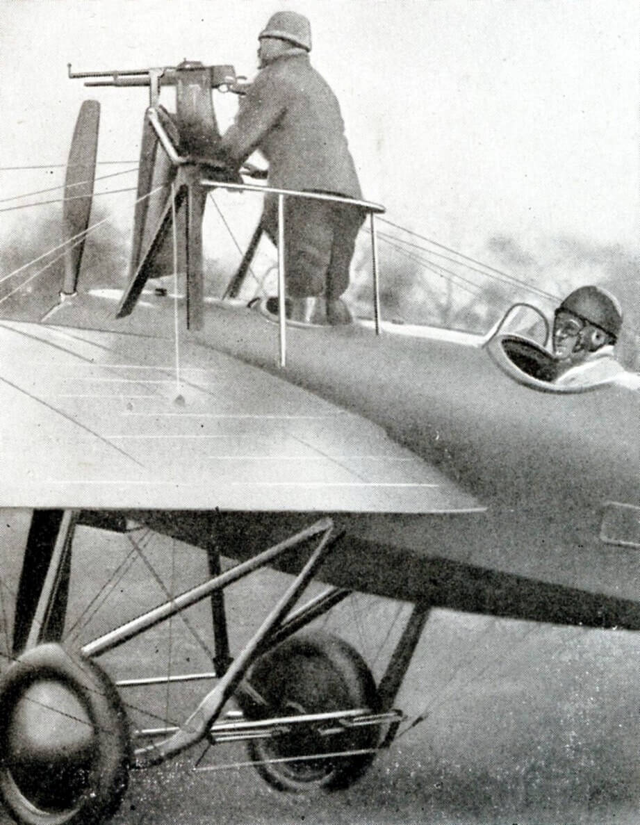 A Hotchkiss M19109 MG mounted on a Deperdussin monoplane