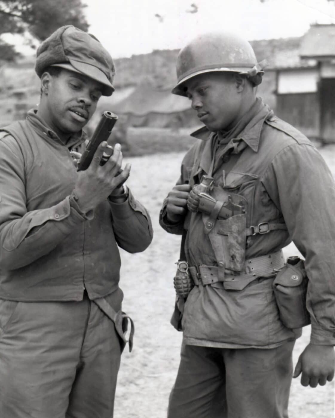 African American soldiers with the M1911 in the Korean War