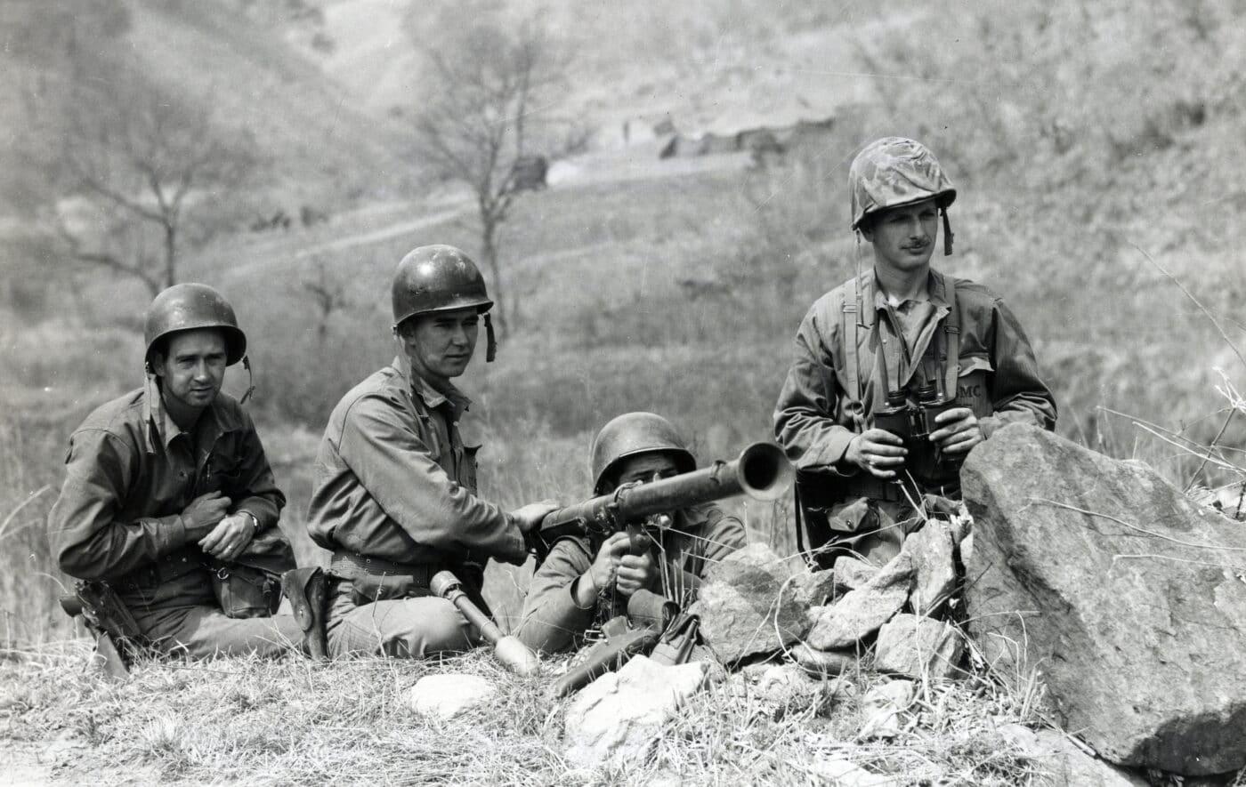 U.S. Marine bazooka team in the Korean War