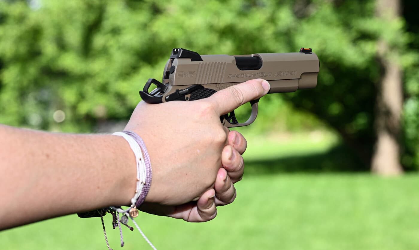 Keep your finger off of the trigger