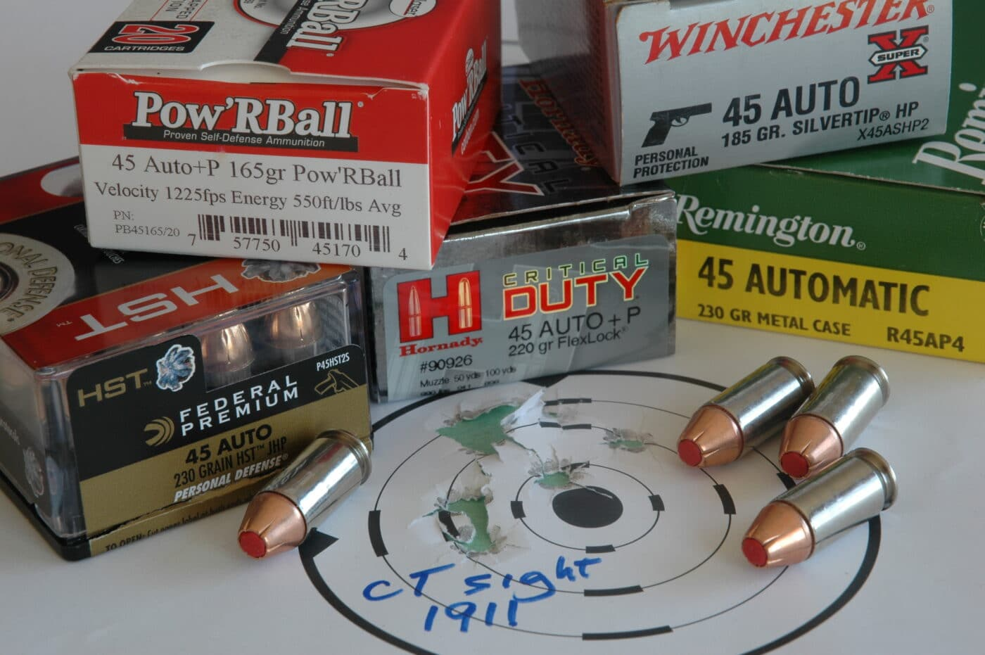 Wide range of .45 ACP loads suitable for military use