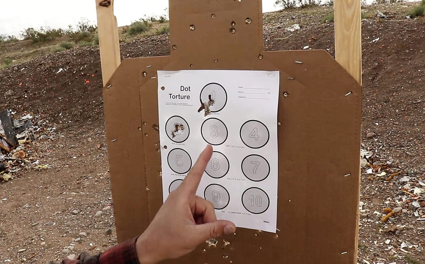 Target for Dot Torture shooting drill