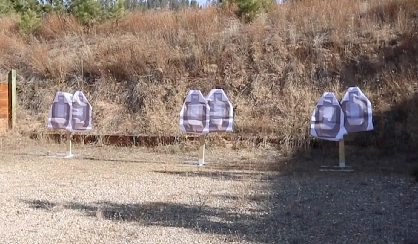 Targets set up for El Guapo drill for concealed carry