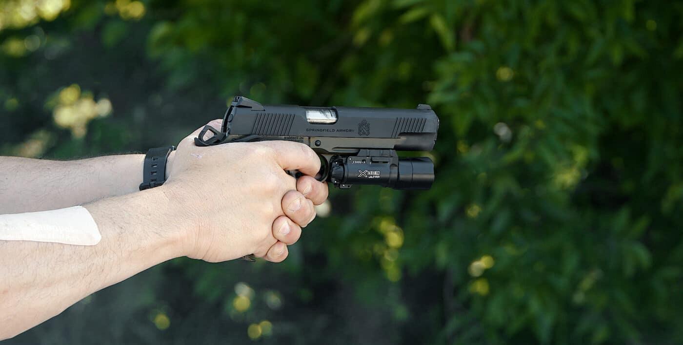 Shooting the Springfield Armory Marine Corps 1911 pistol