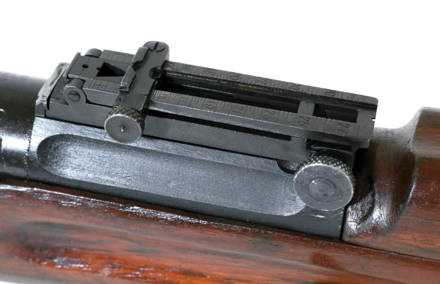 Rear sight of a 1903 rifle