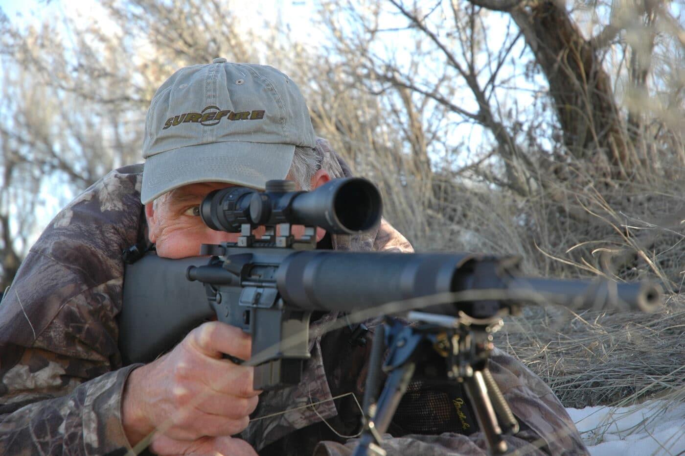 Man using .223 for hunting deer