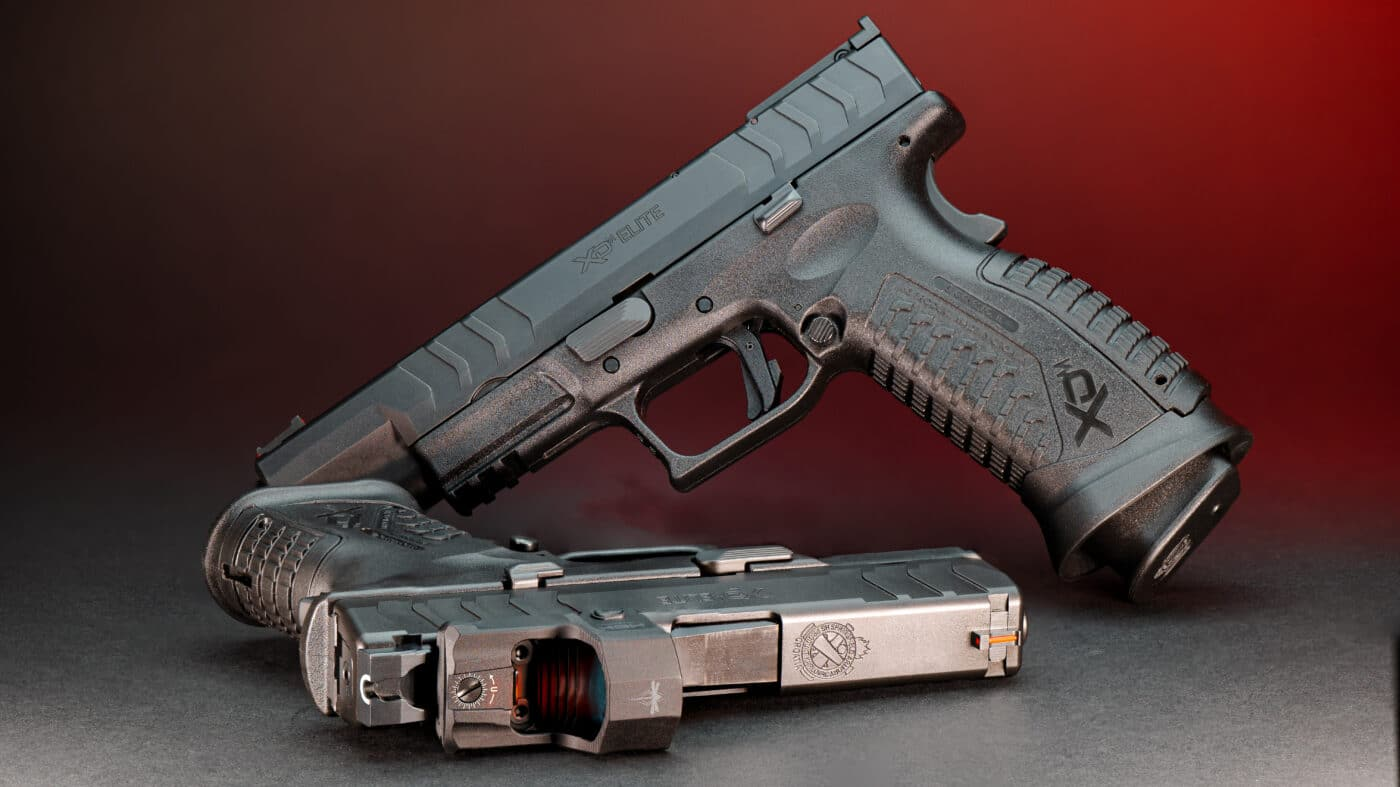 A pair of XD-M Elite pistols