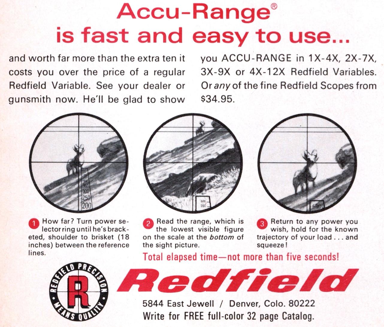 Redfield Accu-Range scope ad from 1968