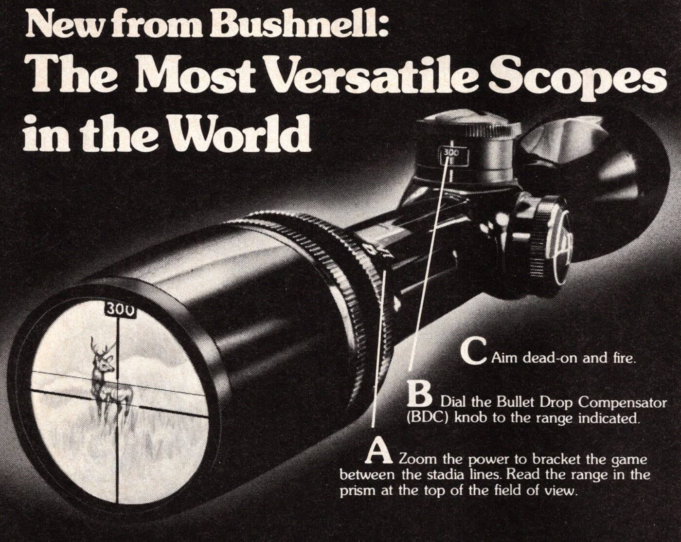 1979 ad with Bushnell BDC scope for hunting