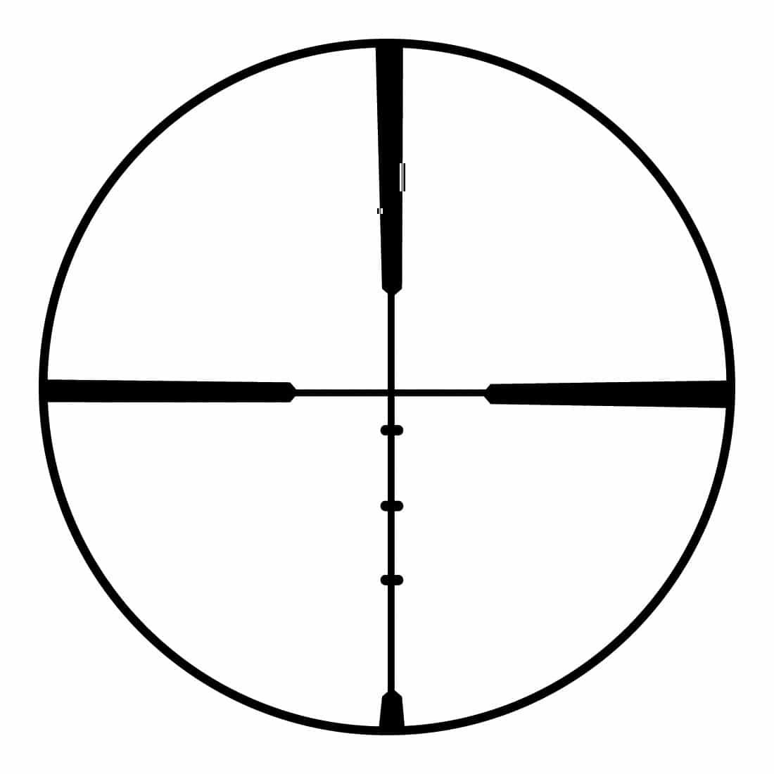 Ballistic Plex reticle in Bushnell scope
