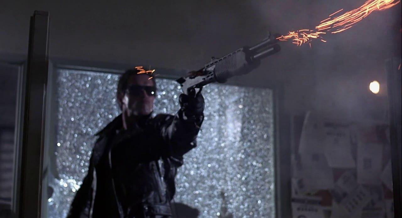 The Terminator with a SPAS 12 shotgun