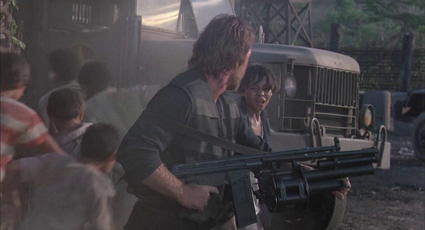 Gun being used in movie Braddock: Missing in Action III