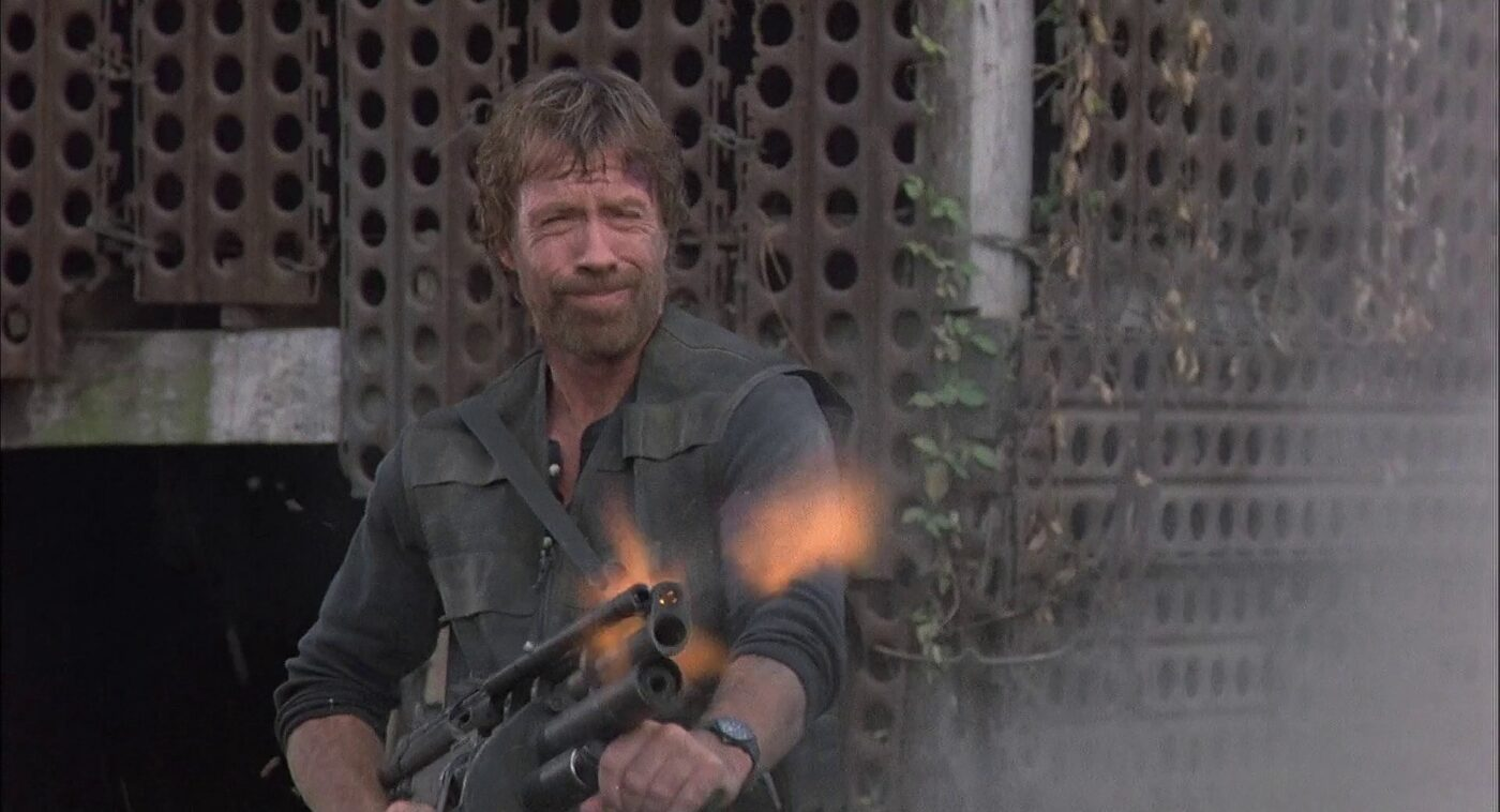 Norris wields a modified G3A4 rifle in Braddock: Missing in Action III