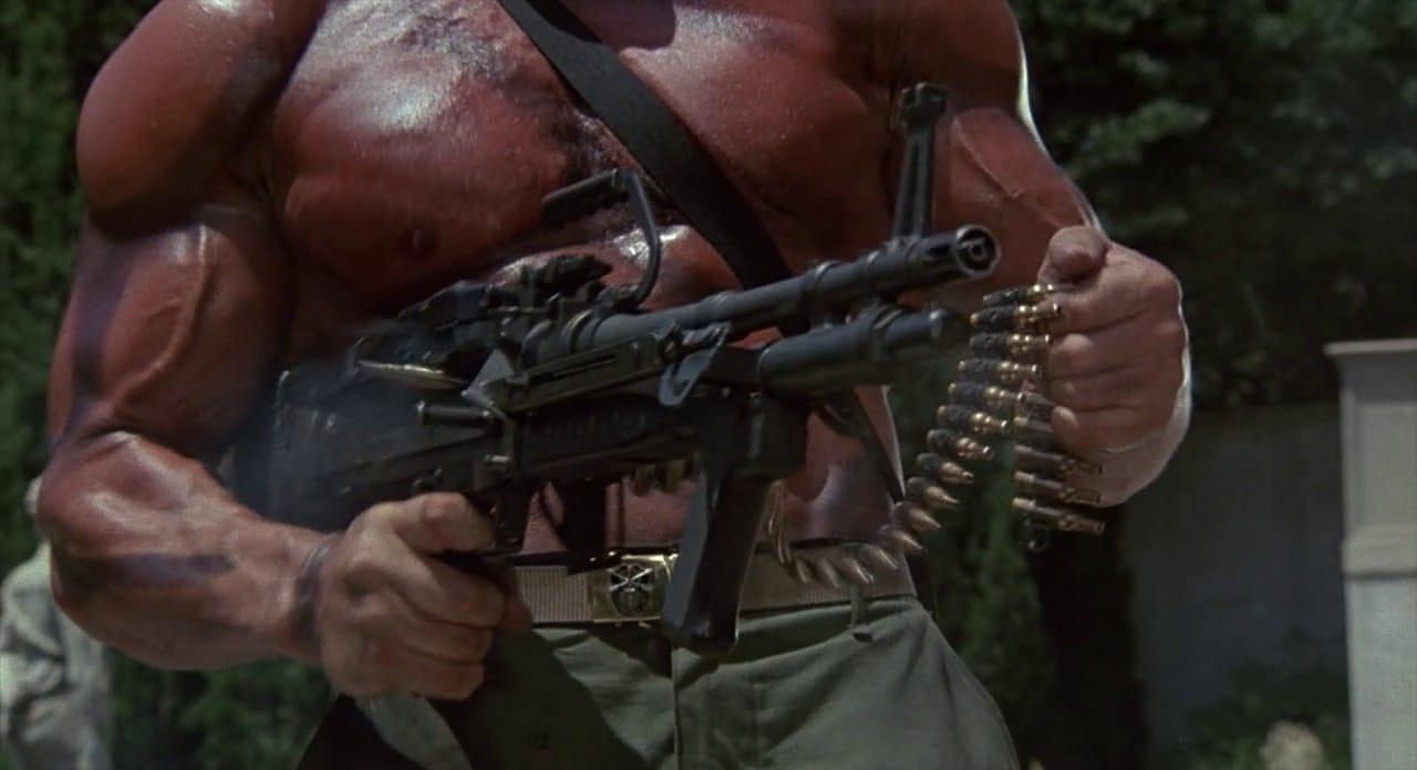 M60 machine gun being used in the movie Commando