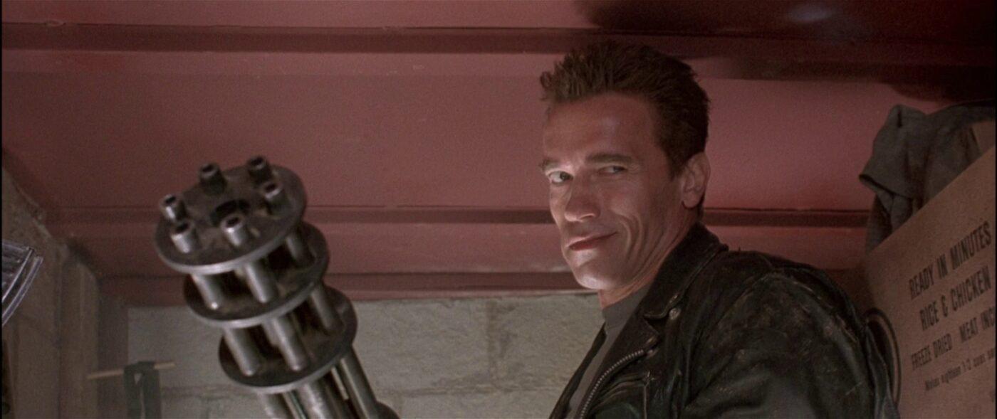 The Terminator with a minigun