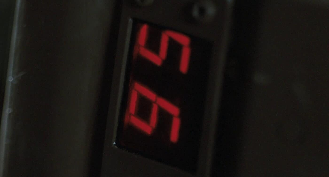 Pulse rifle counter in movie Aliens
