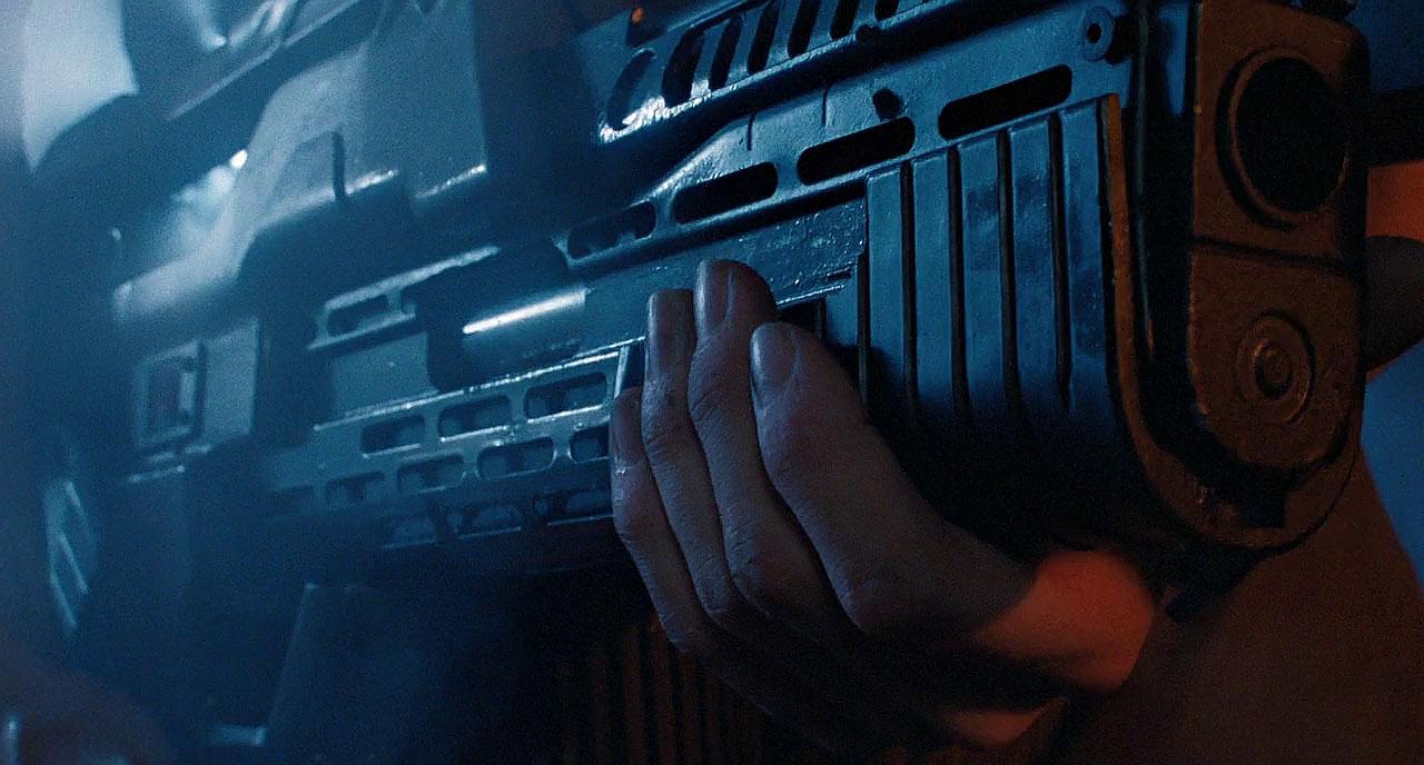Grenade launcher on Aliens pulse rifle