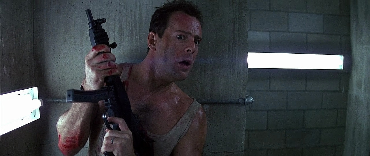 Bruce Willis uses an MP5 in the classic Christmas movie Die Hard