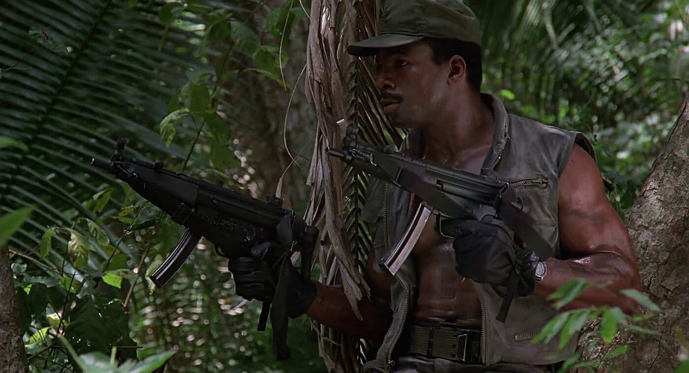Dillon with MP5 in Predator