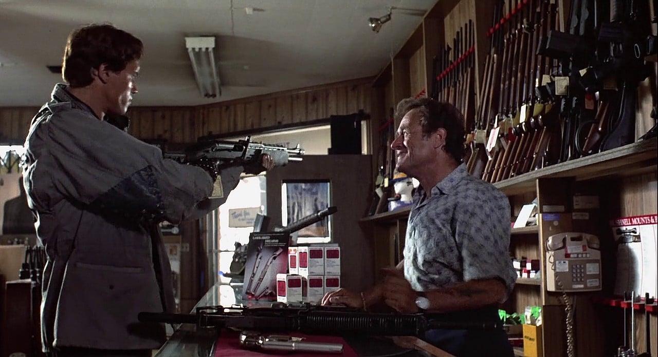 The Terminator using an SPAS-12 shotgun