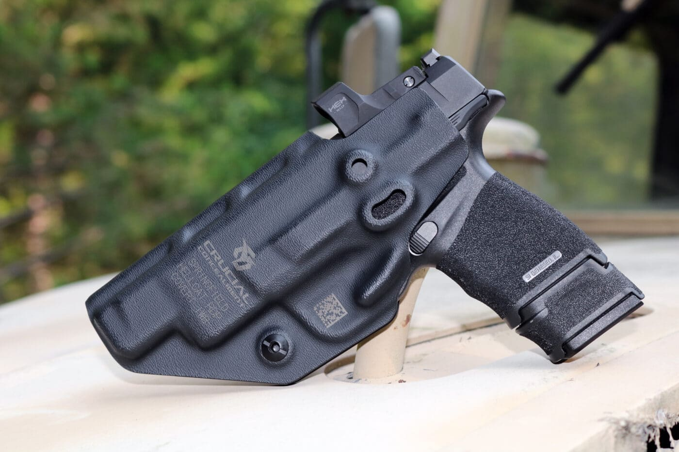 Hellcat RDP in holster by Crucial Concealment