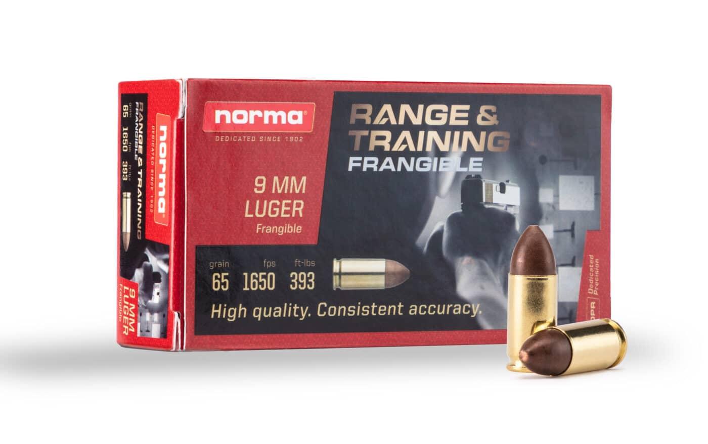 Normal frangible training ammunition and box