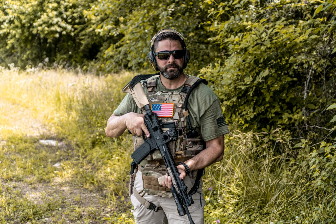Man range testing the HRT RAC Plate Carrier product