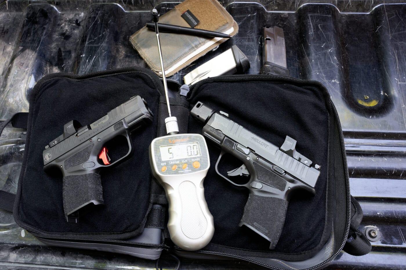 Trigger pull of the LTT Custom Hellcat pistol