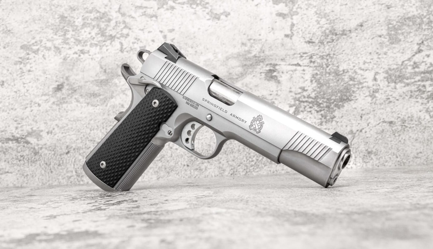 Stainless steel 1911 TRP pistol by Springfield Armory