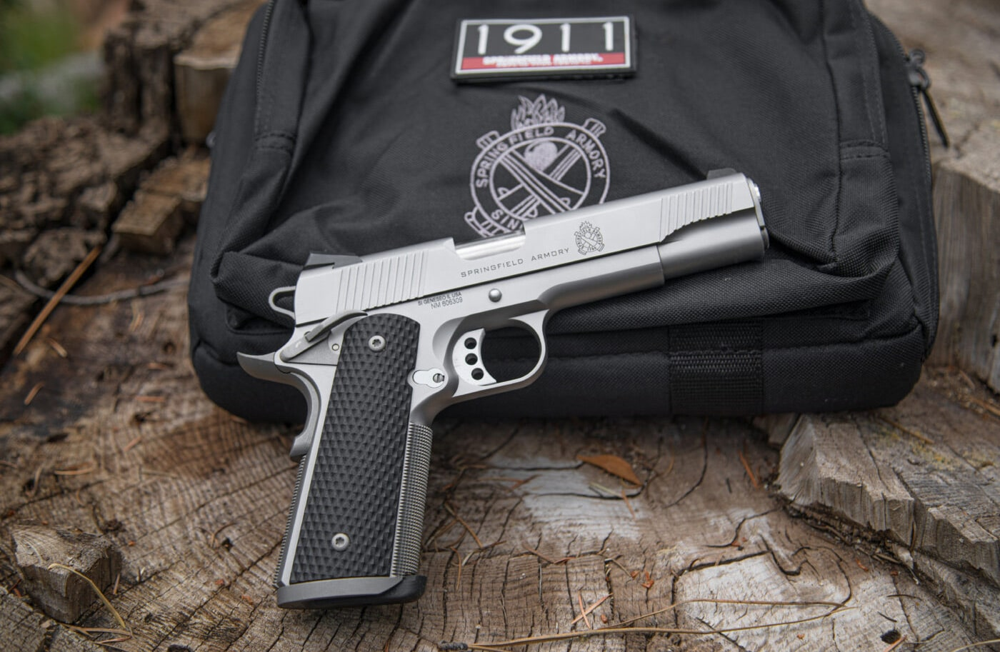 Stainless steel TRP by Springfield Armory along with gear included