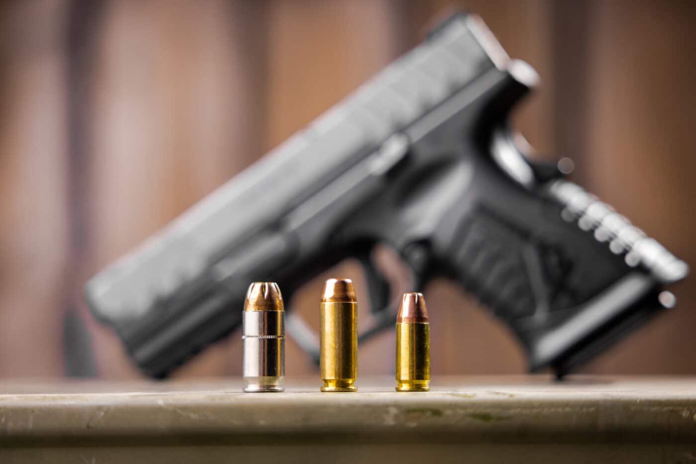 9mm vs. 10mm vs. .45 ACP caliber comparison