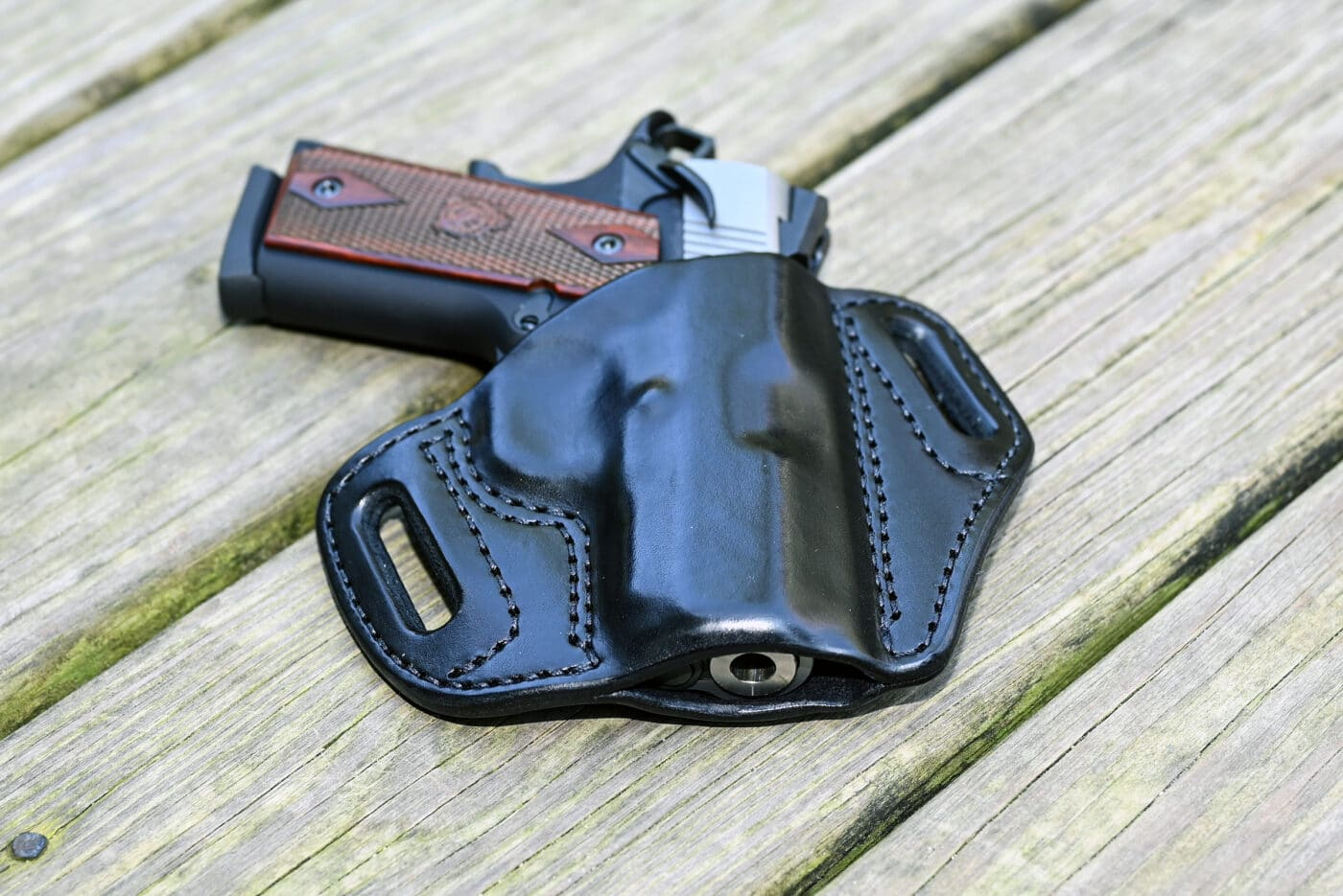 Mitch Rosen leather CCW holster for EMP
