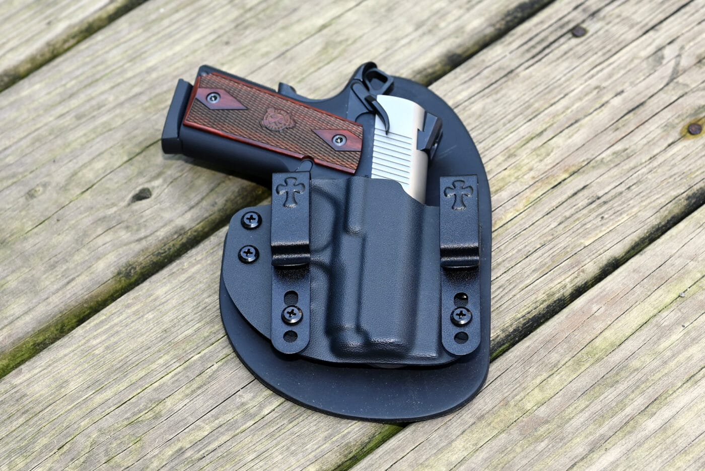 CrossBreed Reckoning holster with Springfield EMP pistol in it