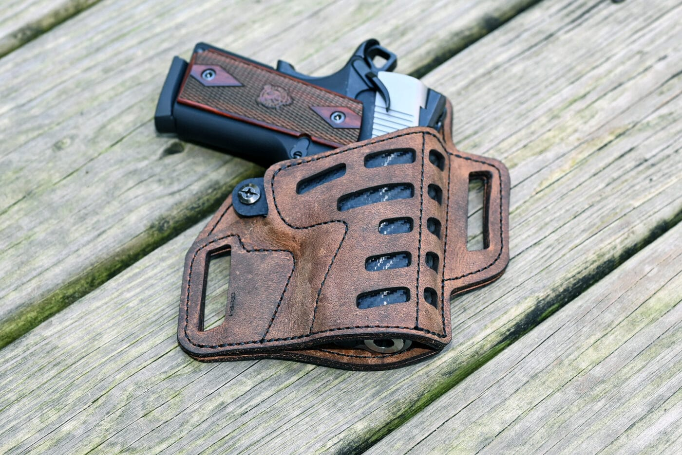 Versacarry holster with EMP pistol in it
