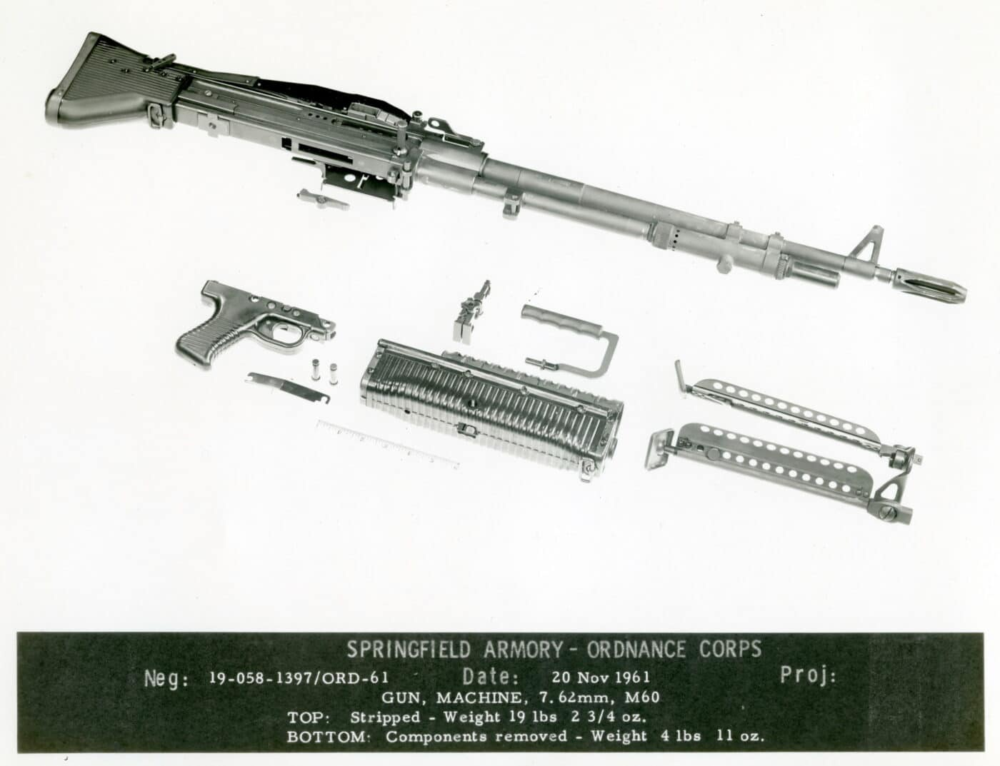 M60 components in 1962 Springfield Armory diagram
