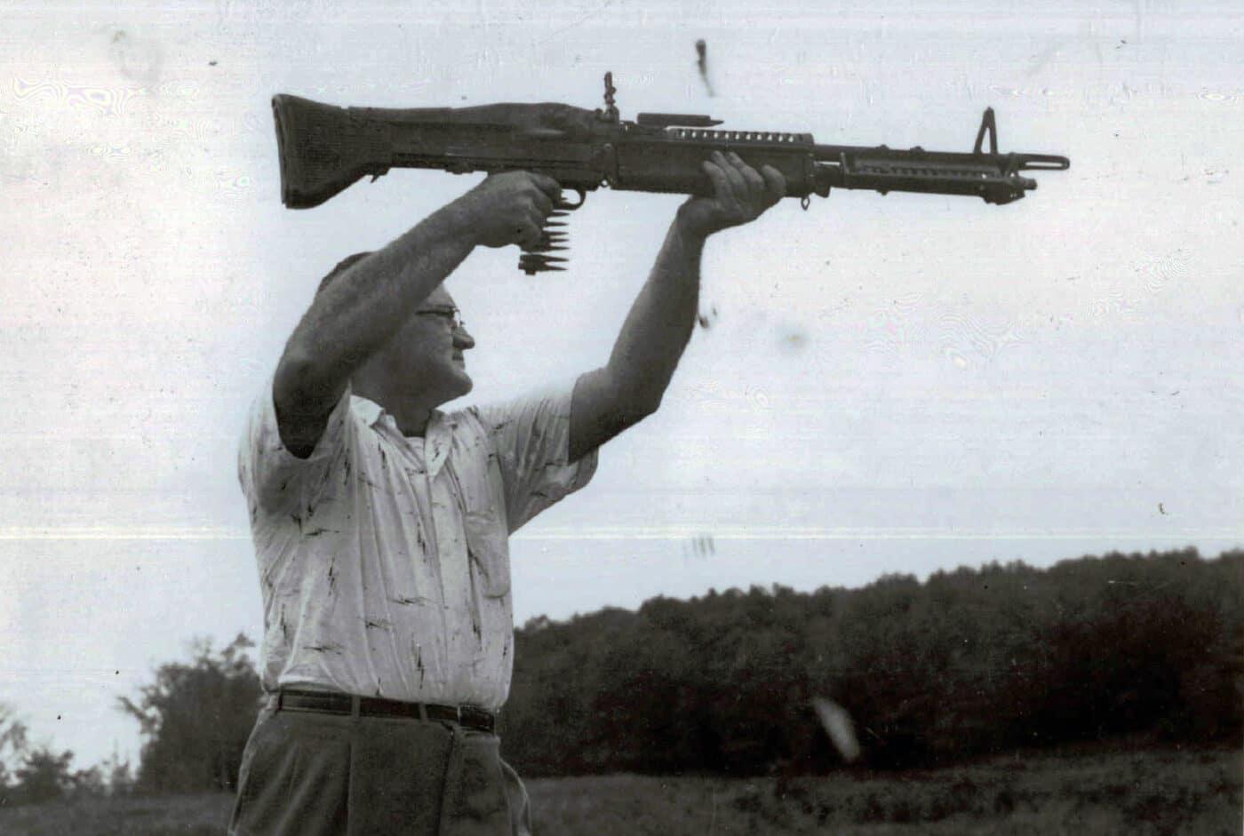 Man testing M60 in 1959