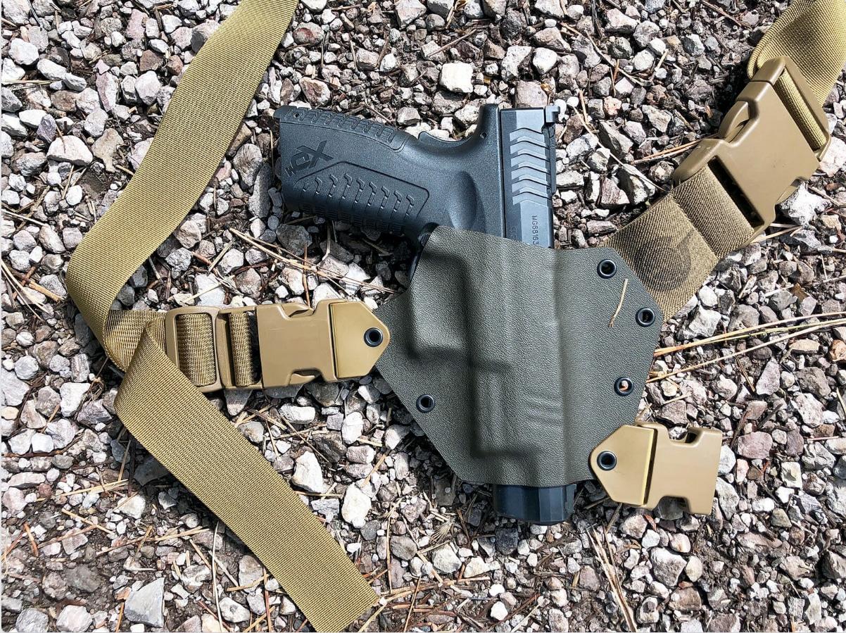 Kenai Chest Holster for the Springfield XD-M pistol