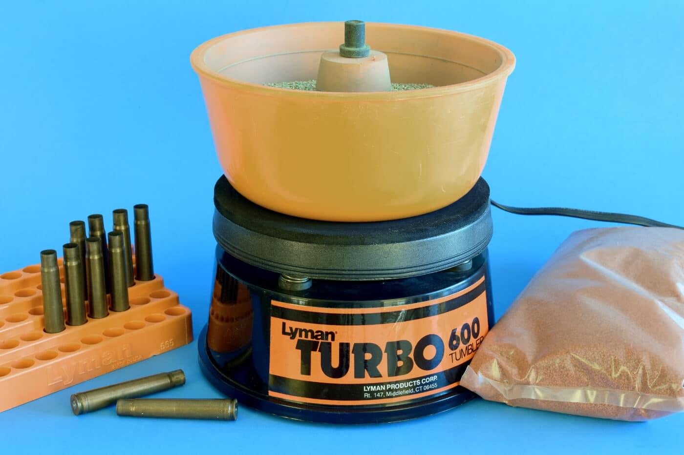 Brass polishing media with Lyman 600 tumbler