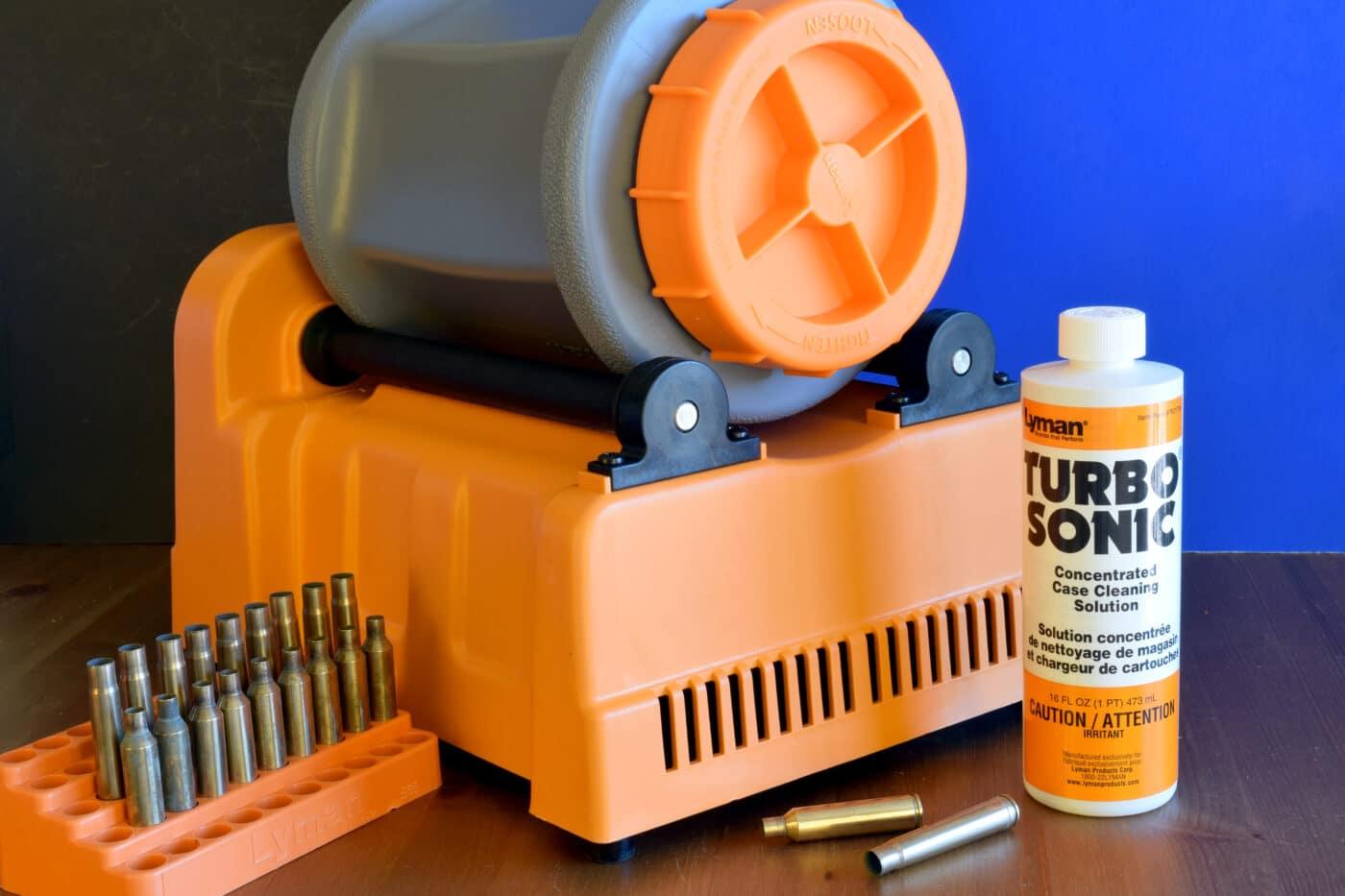 Wet tumbler kit for cleaning brass